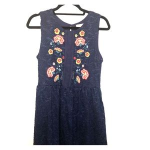Altar'd State Floral Embroidered Sun Dress